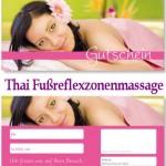 Massage Gutschein Fußreflexzonenmassage