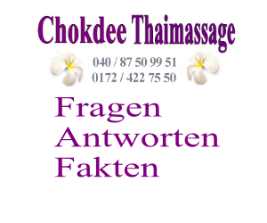 Fragen zu traditionellen Thaimassage