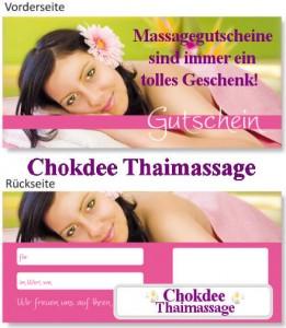 Chokdee Thaimassage Gutscheine
