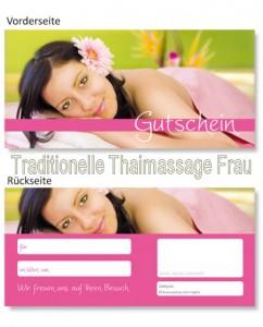 Massagegutscheine Traditionelle Thaimassage für Frauen